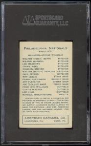 1922 American Caramel E120 Meadows Back