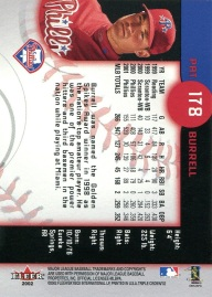 2002 Fleer Triple Crown Burrell Back