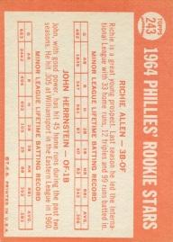 1964 Topps Allen-Herrnstein Back
