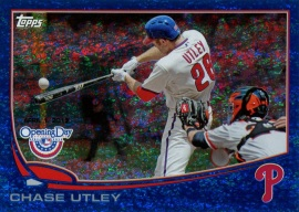 2013 Topps OD Utley Blue Front