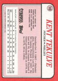 1988 Revco Tekulve Back