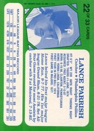 1988 Topps Kaybee Parish Back