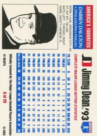 1993 Jimmy Dean Daulton Back