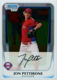 2011 Bowman Chrome Prospects Pettibone front