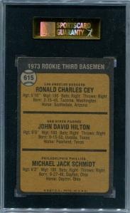 1973 Topps Schmidt Back