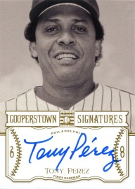 2013 Cooperstown Sigs Perez