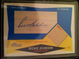 2009 Topps Heritage Cut Signatures Ashburn