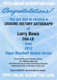 2013 Topps CHA Bowa