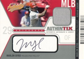 2004 Fleer Authentix Auto-Jersey Byrd