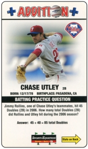 2008 Sports Equation Utley Front