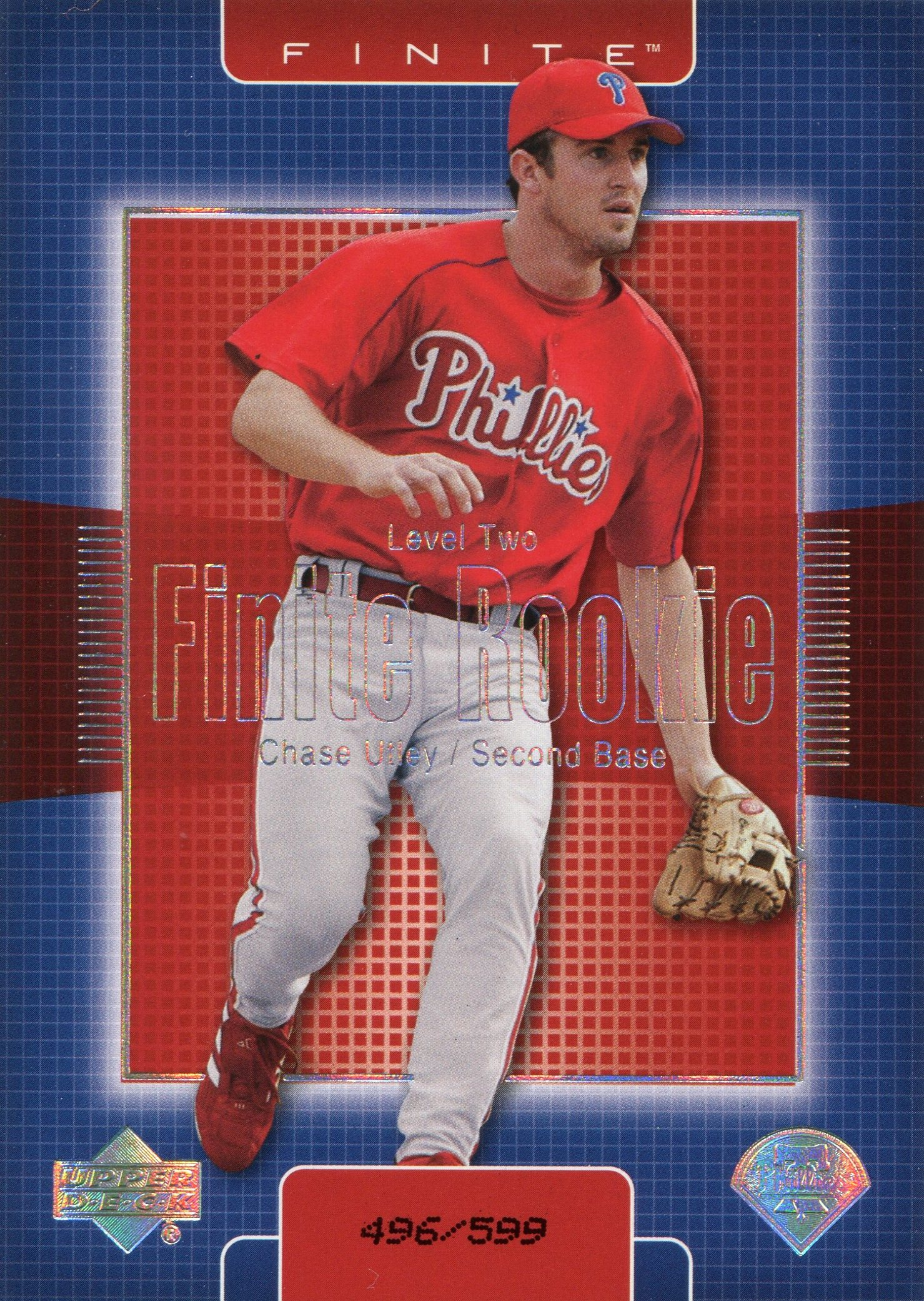 Eric Bolling Baseball Card Chase utley 14,000 phillies