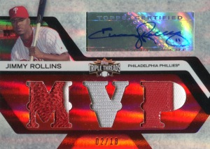 2008 Triple Threads Auto Relic Rollins