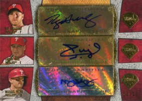 2013 Topps Supreme Triple Auto Phils